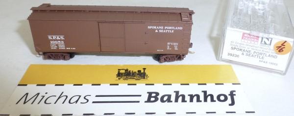 MICRO TRAINS 39230 S.P.&S. 10053 40' Wood Sheathed Boxcar N 1:160 OVP #16L å
