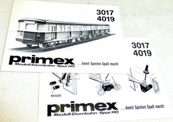 MÄRKLIN Anleitung Primex 3017 4019 # å