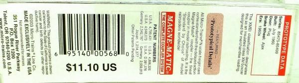 50´ Standard Boxcar NICKEL PLATE ROAD 85484 Micro Trains Line 32080 N 1:160 C å*