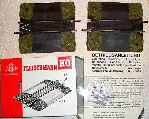 Kehrschleifen Garnitur Fleischmann Artikel 6099 NEU 1:87 H0 LC3 µ