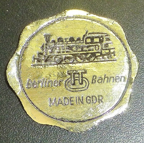 Prüfsiegel Berliner TT Bahnen Zeuke Made in GDR å *