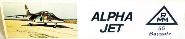 ALPHA Jet Erdkampfflugzeug Roskopf 55 NUR DER LEERE KARTON LEERKARTON HQ4 å *