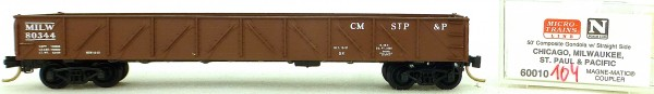 Micro Trains Line 60010 Milwaukee 80344 50' Gondola drop ends 1:160 OVP #i104 å
