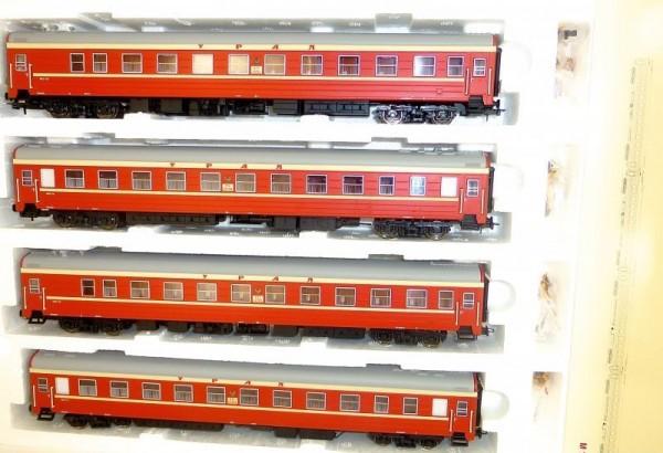 4 Weitstrecken Schlafwagen rot beige Ural Ammendorf H0 1:87 OVP 0212 LA5 å