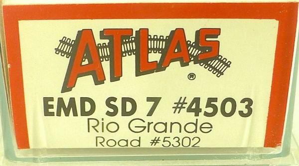 ATLAS 4503 KATO EMD SD 7 Rio Grande 5302 Diesellok N 1:160 OVP ∑ å *