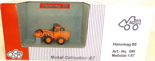 Hanomag B8 Radlader orange NZG 599 Metall Collection 1:87 OVP LD2 µ *