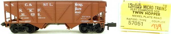 Micro Trains Line 57051 NKP Rapido 31299 33' Twin Bay Hopper 1:160 OVP #i139 å