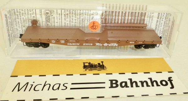 MICRO TRAINS 45060 D&RGW 23019 50' Flatcar Fishbelly Side N 1:160 #100L å