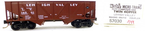 Micro Trains Line 57030 Lehigh Valley 14001 33' Twin Bay Hopper 1:160 OVP #i144 å