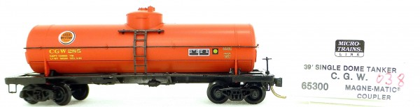 Micro Trains Line 65300 C.G.W. 285 39' Single Dome Tank Car 1:160 OVP #i038 å