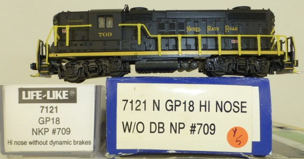 Life Like 7121 Nickel Plate Road 709 GP18 Hi Nose Diesellok N 1:160 OVP Y5 å *