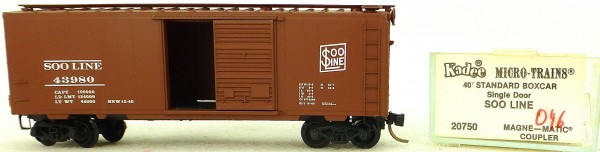 Micro Trains Line 20750 Soo Line 43980 40' Standard Boxcar 1:160 OVP #H046 å