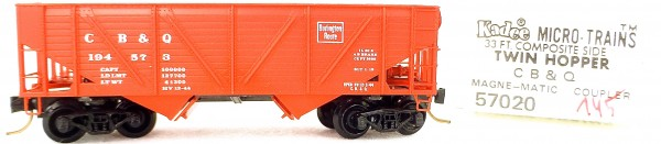 Micro Trains Line 57020 CB & O 194573 33' Twin Bay Hopper 1:160 OVP #i145 å