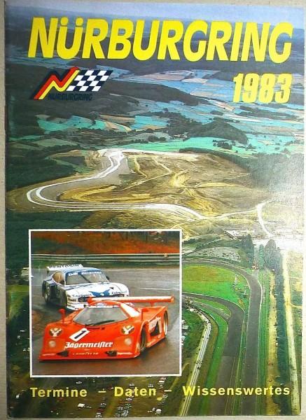 1983 Termine Daten Wissenswertes Nürburgring PROGRAMMHEFT å II06 *
