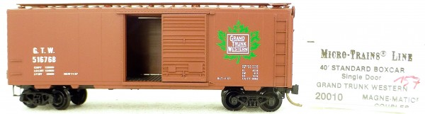 Micro Trains Line 20010 G.T.W. 516768 40' St. Boxcar 1:160 OVP #H157 å