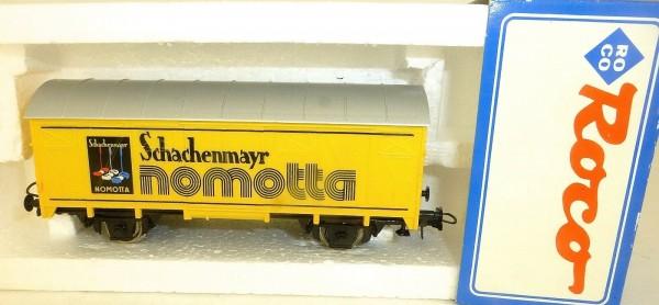 Schachenmayr nomotta Werbewagen KKK NEM Roco H0 OVP 1:87 LD1 µ *