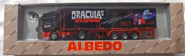 MAN F90 Draculas Blood Albedo 300153 Hochdach Koffer Sattelzug OVP H0 1:87 å