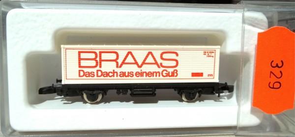 BRAAS Dach Containerwagen, Kolls 88709 Märklin 8615 Spur Z 1/220 *329* # å