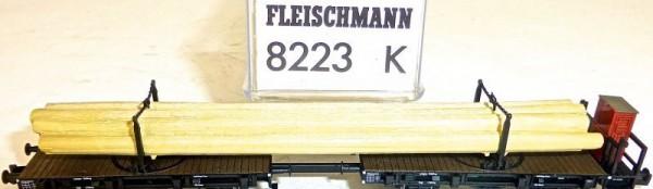 Drehschemel Gespann Drehschemelwagen DRG Fleischmann 8223 8223K NEU 1:160 HR6 µ*
