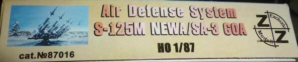 Air defense Sys S-125M NEWA SA-3 GOA ungebaut ZZ 87016 Exclusiv Modell 1:87 å *