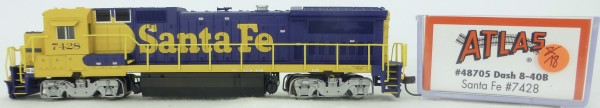 Atlas 48705 Dash 8-40B Santa Fe 7428 Diesellok Decoder Ready OVP N 1:160 #18& å