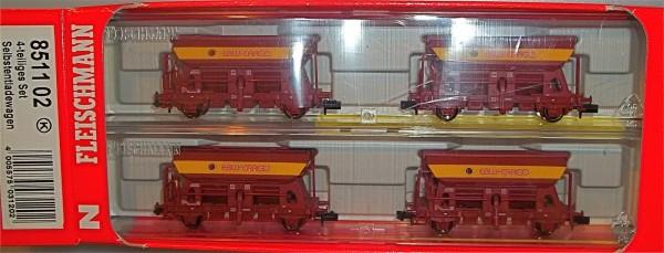EBW Cargo 4tlg Selbstentladewagen Set EpV Fleischmann 851102 1:160 OVP HS2 µ *