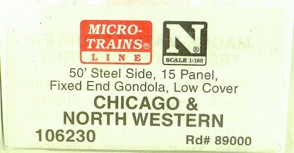 Micro Trains Line 106230 Chicago North Western 50' Steel Side 1:160 OVP #F å*