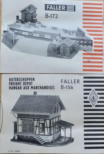 2 x FALLER Anleitung für B-172 B-156 Modell Bausätze AMS å