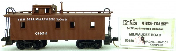 Micro Trains Line 50180 Milwaukee Road 01924 34' CABOOSE 1:160 OVP #K039 å