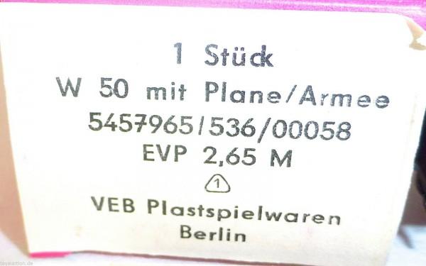 W50 Armee mit Plane W 50 MINI CAR ehemals ESPEWE DDR VEB OVP H0 1:87 #HN5 å