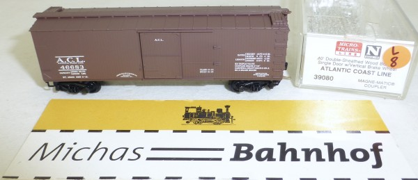 MICRO TRAINS 39080 ACL 46683 40' Wood Sheathed Boxcar N 1:160 OVP #08L å