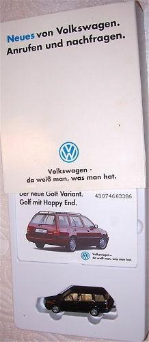 Golf Variant neues von VW Werbemodell Packg WIKING 1/87