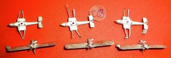 3x Flugzeug zu Schiffsmodell 1:1250 SHPI08 å *