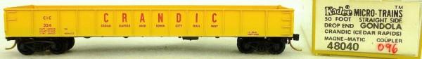 Micro Trains Line 48040 Crandic CIC 324 50' Ribside Gondola 1:160 OVP 096G å*
