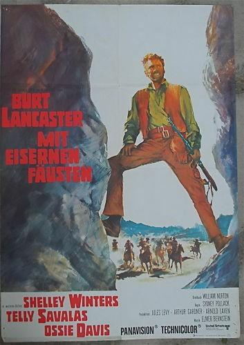 Mit Eisernen Fäusten Burt Lancaster Filmplakat