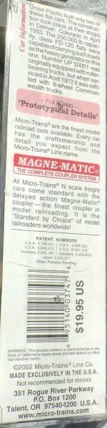 Micro Trains Line 109220 UP Generator Load Heavyweight DC Flat N OVP 1:160 B å *
