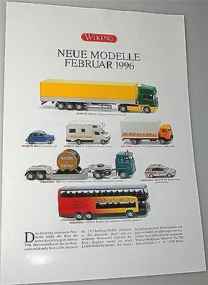 Neue Modelle Februar 1996 WIKING Neuheitenblatt å *