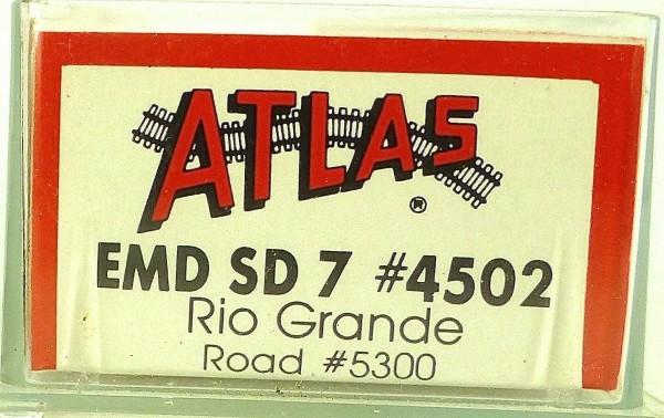 ATLAS 4502 KATO EMD SD 7 Rio Grande 5300 Diesellok N 1:160 OVP ∑ å *