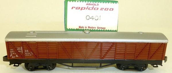 versiegelt DB gedeckter Güterwagen braun 0401 ARNOLD rapido 200 N OVP HQ4 µ *
