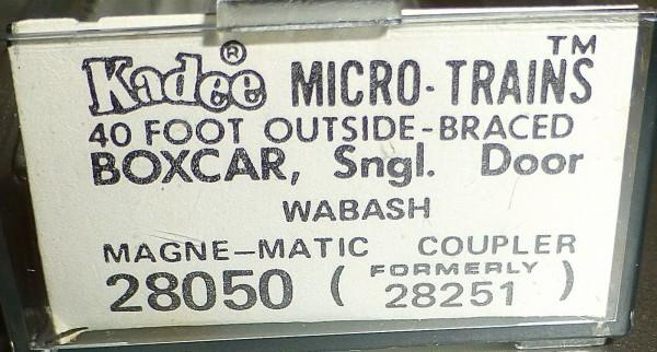 40´ Outside Braced Boxcar WABASH 81501 Micro Trains Line 28050 N 1:160 C å*