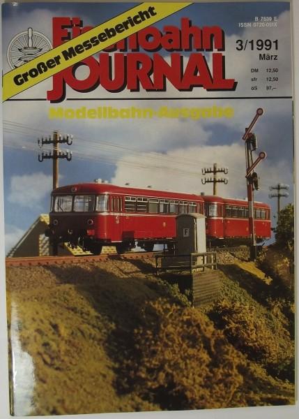 Eisenbahn Journal 3/1991 März, Großer Messebericht - Modellbahn Ausgabe