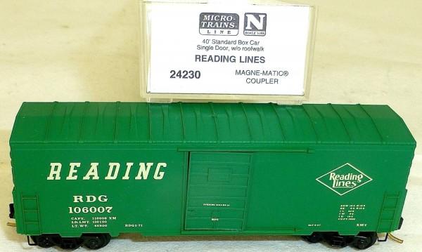 Reading Lines 40' Box Car Single Door Micro Trains Line 24230 N 1:160 OVP å *