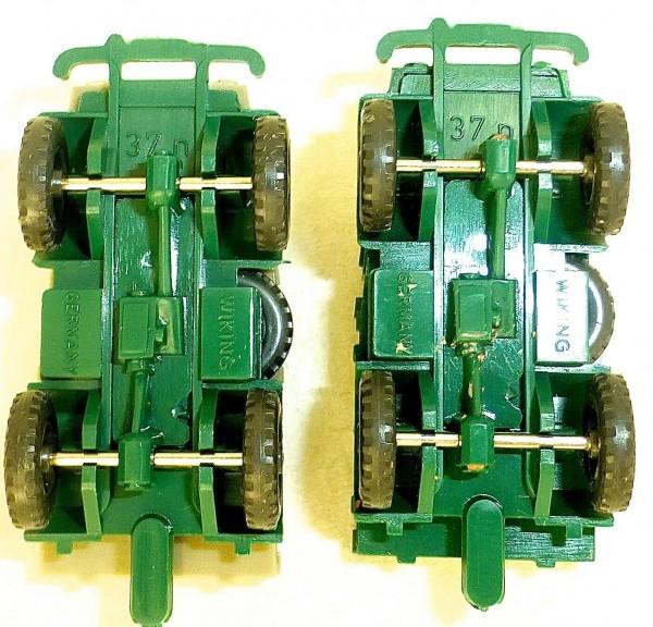 2 x Wiking MB Unimog 411 grün/grün + grün/olivgrau 37n H0 1:87 å *