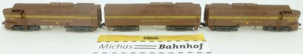 3 tlg Pennsylvania Diesellok 9594 9596 Metallgehäuse alle motorisiert 1:160 AB1 å