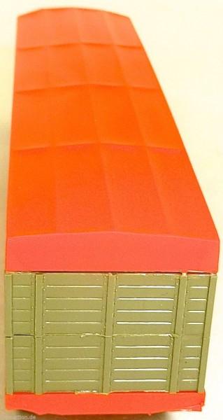 Tiertransporter geschlossen grünbeige Deutrans orange Auflieger LKW H0 1:87 å