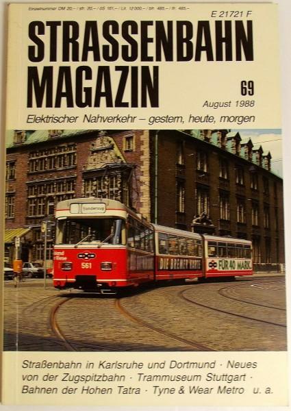 Straßenbahn Magazin Heft 69 August 1988, S. 177-264 Franckh'sche Verlagshandlung