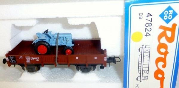 Niederbordwagen mit Traktor DB Ep.IV KKK NEM Roco 47824 H0 OVP NEU #HD3 µ
