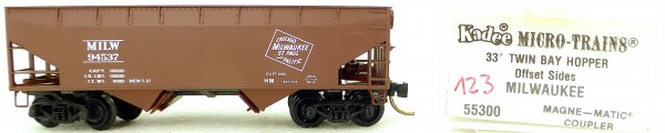 Micro Trains Line 55300 Milwaukee 94537 33' Twin Hopper OVP 1:160 #K123 å