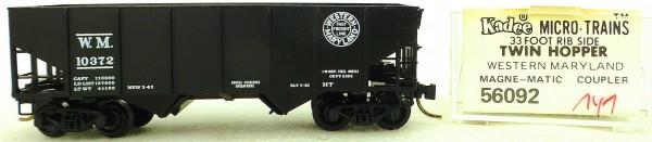 Micro Trains Line 56092 Western Maryland 10372 33' Twin Hopper OVP 1:160 #K141 å