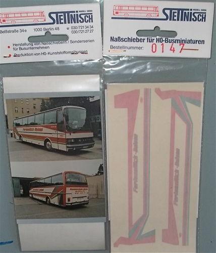 Ferienglück Stettnisch Beschriftung Bus Reisebus Setra S215HD å *